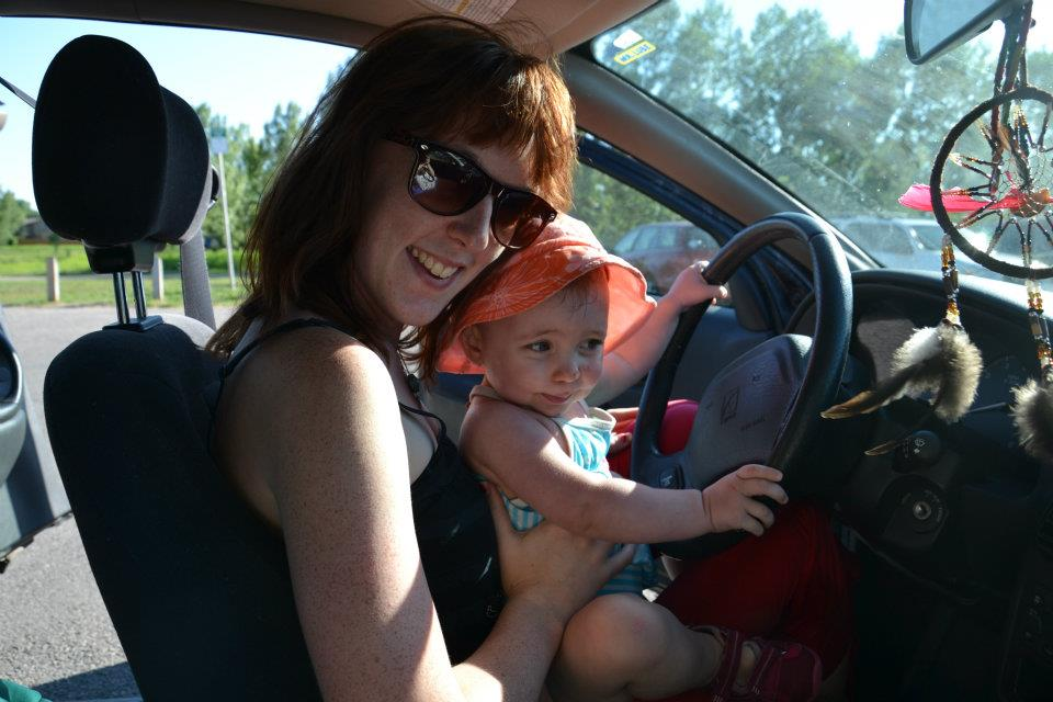 My daughter and I hitting the road. By Andrea Hunter