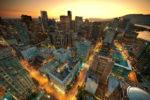 Downtown Vancouver Sunset by Magnus Larsson