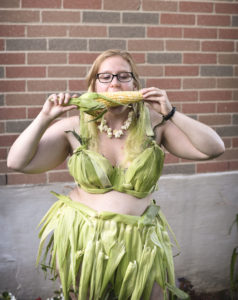 The corn-husk bikini. Photo by Meaghan DeClerq