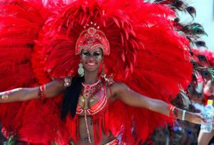 Carnival red outfit