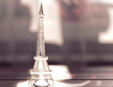 Glass model of the Eiffel Tower